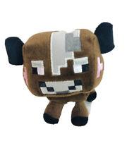 "Minecraft 2014 Mojang Brown Cow Plush Stuffed Animal Soft Toy 6"" Long"