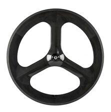 700C Tri Spoke Carbon Wheels Track Bike/Fixed Gear Tri Spoke Wheels Custom Wheel