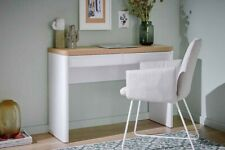 Cuuba Libre  Desk  by Jahnke New White And Riviera Oak RRP £295