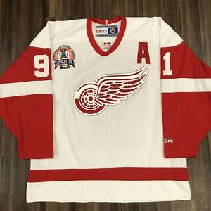 (READ) CCM Sergei Fedorov Detroit Red Wings 2002 Stanley Cup Final NHL Jersey XL