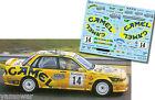 Decal 1:43 Antonio Ponce - MITSUBISHI GALANT VR4 - Rally El Corte Ingles 1996