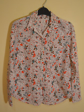 Gap women's Fitted Boyfriend white floral shirt - XS - top long sleeve pink work