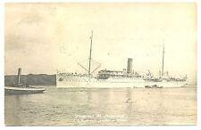 NEDERLAND S.M.N.1907-2-9  FOTO  AK =S.S.REMBRANDT =  F/VF
