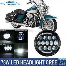 7Inch Round LED Daymaker Projector Headlight Hi/Low For Harley Touring Road King