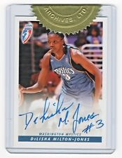 2007 Wnba Sealed Autograph Dms Delisha Milton-Jones Washington Mystics