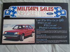 Ford USA Military Sales Newsletter brochure 1981