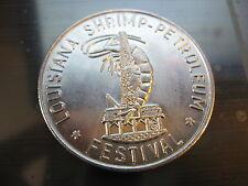 shrimp petroleum festival white gold mardi gras doubloon new orleans coin