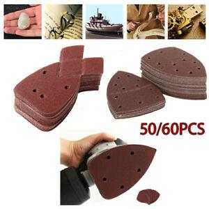 50/60Pcs Sandpapers Delta Mouse Sanding Sheets Palm Sander Pads 40-800 Girt Kit