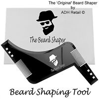 BEARD SHAPING TOOL - Template, Shaper, Stencil, Symmetry, Trimming, Comb Barber