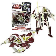 "Year 2009 Star Wars Transformers Crossovers 7"" Figure KIT FISTO JEDI STARFIGHTER"