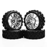 4PCS Rally Tyre & Wheel Rims 12mm Hex For HSP HPI RC 1:10 Racing Off Road Car