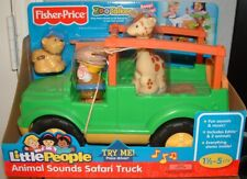 Little People Zoo Talkers Animal Sounds SAFARI TRUCK Jeep Fisher-Price Brand New
