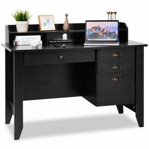 Costway HW54474BK PC Laptop Writing Desk - Black