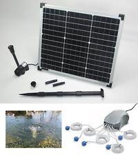 30W Solar Teich Pumpe + Teichbelüfter Springbrunnen Gartenteich Sauerstoff Tauch