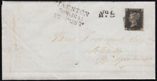 SG2 1841 1d. Black pl. 2, HC, on cover from Taunton to Bridgewater dated 30.M...