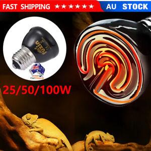 50W/100W E27 Heat Emitter Lamp for Reptile Brooder Pet Grow Infrared Light Bulbs