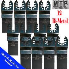 12x Bi-metal Saw Blade Oscillating Multi Tool Dewalt Dremel Makita Ridgid Fein