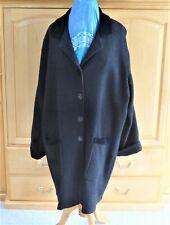 Flax by Jeanne Engelhart Women's Wool Coat Jacket w/Velour Lagenlook Size Medium