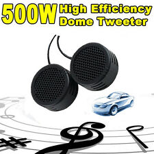 2 x 500 Watts Super Power Loud Dome Tweeter Speakers Lautsprecher For Auto 500W