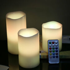 Set of 3 Led Flameless Flickering Candles with Timer, Remote Control Home Decor