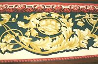 Wallpaper Border Victorian Ornate Acanthus Scroll Wall Eh99911 Gold Green Red
