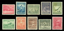 ECUADOR 1939  First Bolivarian Olympics set  Scott # 377-381, C65-69 mint MH/NH