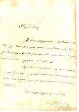 Lettera Autografo Giureconsulto Enrico Sabatini Affari Giudiziari Torretti 1841