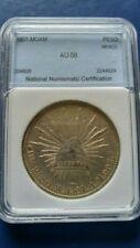 1901 MoAM MEXICO Second Republic Un Peso Silver Coin AU-58
