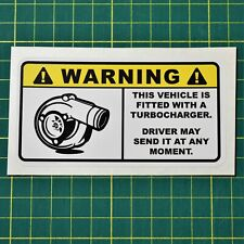 JDM Funny Turbo Sticker - Fitted With Turbocharger - Car Toolbox Sticker
