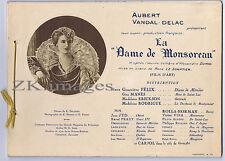 La DAME DE MONSOREAU 12 Photos Dumas Film d'Art 1923/25