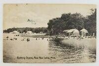 Postcard Bathing Swimming Boating Paw Paw Lake Michigan