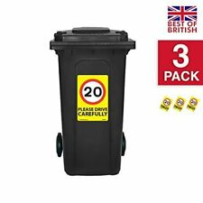 20 Mph Speed Signs [3 X Pack] - A4 Vinyl Stickers, Yellow Background Ideal Fo...