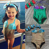 Newborn Toddler Baby Kids Girls Mermaid Bikini Swimsuit Swimwear Bathing Suit