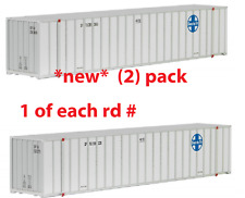 MTL MICRO-TRAINS N   468 00 081 & O82 ( 2 PK )* ATSF *48' CONTAINERS, 2-RD #s