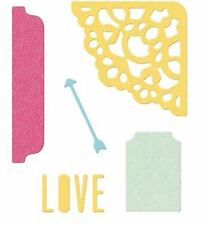 Lifestyle Crafts QuicKutz Die Set  POCKET SCRAP DIES - LOVE  ~ 5 Dies -DC0505
