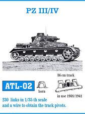 1/35 FRIULMODEL ATL-02 METAL TRACK GERMAN PANZER III & IV PROMO