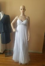 Alfred Angelo Sapphire white wedding dress size 0 removable spagetti straps styl