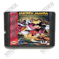 Mickey Mania 16 bit MD Game Card For Sega Mega Drive For Genesis