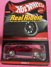 HOT WHEELS RLC REAL RIDERS '92 Ford Mustang. Only 3500 Made!! Excellent