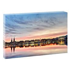 Hamburg Alster -Bild auf Leinwand Keilrahmen Poster XXL 120 cm*80 cm 209