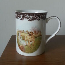 Spode Coffee Mug Fine Porcelain Yellow Labrador Hunting Dogs
