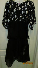 Youth Girls XL Girl Code Polka Dot Top Blouse & Medium My Michelle Black Skirt