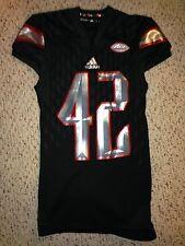 2015 Adidas Louisville Cardinals #42 Isaac Stewart Football Game Worn Jersey