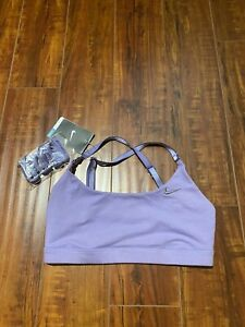 NIKE Dri-Fit Purple Sport Bra - Size Small - Adjustable Strap - New With Tags