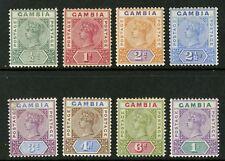 Gambia   1898  Scott # 20-27  Mint Hinged Set