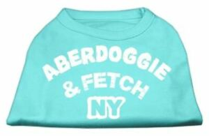 Aberdoggie NY Screenprint Dog Cat Pet Puppy Shirt