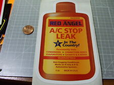 RED ANGEL STOP LEAK GLOSSY Sticker/Decal  Automotive  NEW ORIGINAL
