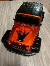 PREOWNED New Bright Jeep Wrangler RC Hard Plastic Body Shell 1:8 RC Scale Orange