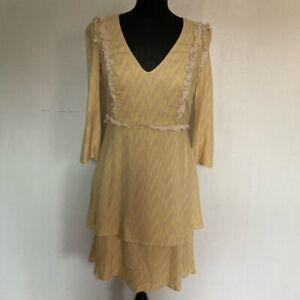 Patrizia Pepe Layered Crepe Dress Size 10 (IT 42)