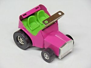 Vintage Topper Zoomer Boomer Race Car Sand Buggy Missing Roof Pink Metal